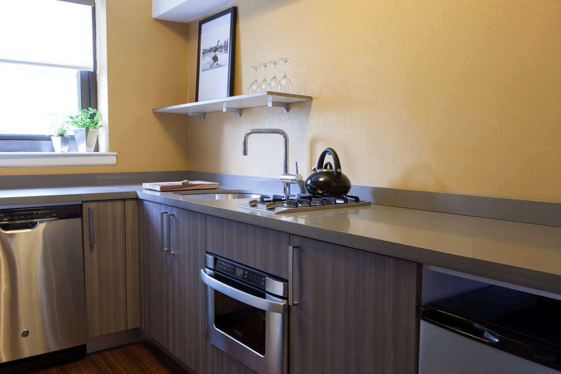 Kitchen Inside Of Fifty Hotel One Bedroom Suite
