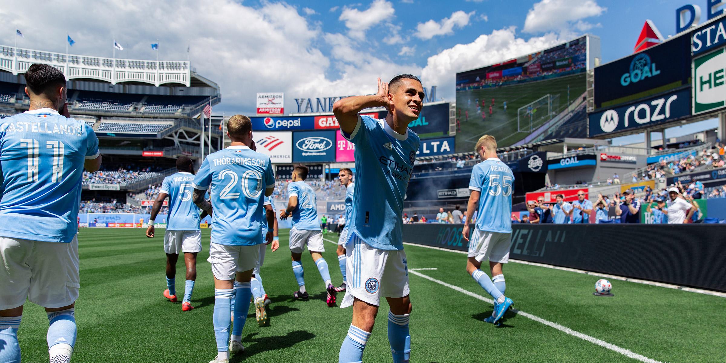 NYCFC Team Players